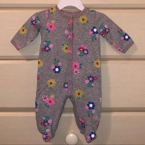 Carter's long-sleeve floral bodysuit